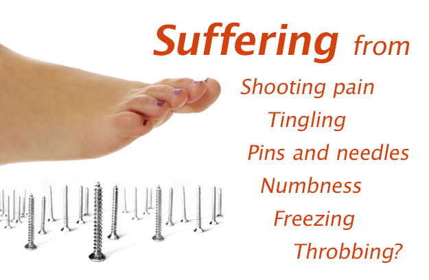 Suffering from Shooting pain, Tingling, Pins and needles, Numbness, Freezing, Throbbing?
