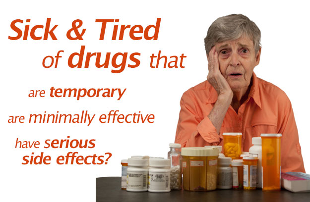 Sick and Tired of drugs  that are temporary, minimally effective, and can have serious side effects?